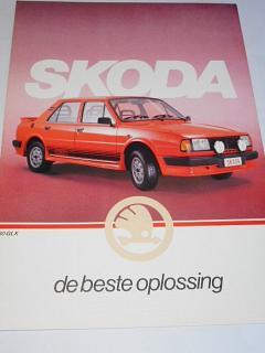 Škoda - 105 LE, 120 L 4, 120 L 5, 120 LX, 130 L, 130 GL, 130 GLS, 130 GLX, 130 R Coupe - prospekt - N. V. Skoda Motor