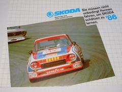 Škoda 105 S, 105 L, 120 L, 120 GLS, 130 L, Coupé - prospekt - 1986 - Semex GmbH