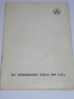 RC generátor Tesla BM 218 a - návod k obsluze