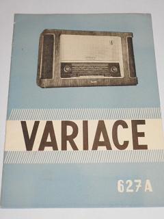 Tesla - Variace 627 A - návod k obsluze přijímače