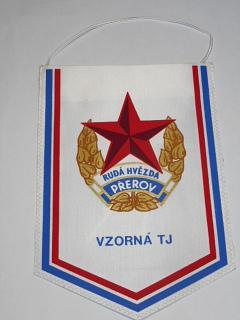 Rudá hvězda Přerov - vzorná TJ - 10 let vzorného oddílu kulturistiky 1975 - 1985 - vlaječka