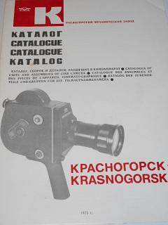 Krasnogorsk-3 - catalogue of units and assemblies of cine camera - 1975