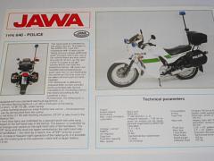 JAWA 350 type 640 - Police - prospekt