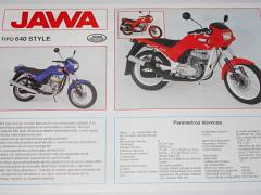 JAWA 350 tipo 640 style - prospekt