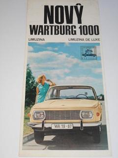 Nový Wartburg 1000 - prospekt - 1966