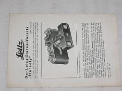 Leitz - Der Leica stereo ... 1931 - prospekt