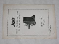 Leitz - Klein - Projektionsapparate - 1930 - prospekt