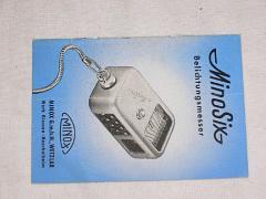 Minox - Mino Six - Belichtungsmesser - prospekt