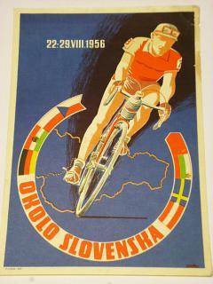 Okolo Slovenska - 22.-29. VIII. 1956 - leták - cyklistické preteky