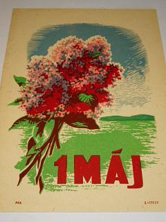 1. máj - plakát - leták