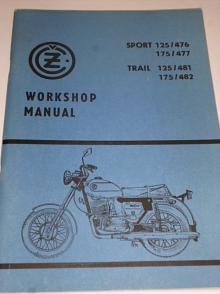 ČZ Sport 125/476, 175/477, Trail 125/481, 175/482 - Workshop manual