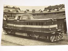 ČKD Praha - motorová lokomotiva T 444.0 - pohlednice