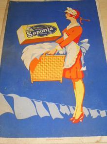 Terpentinové mýdlo Saponia i pro tvrdou vodu - papírová reklama