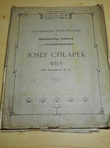 Illustrierter Preis - Kurant über Möbelbechläge, Huthaken und Vorhangstangenträger von Josef Chlapek Wien - 1904