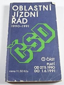 ČSD - oblastní jízdní řád - 1990 - 1991 - 1. část