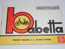 Babetta MS 50 typ 28 - 1971 - Ersatzteilliste