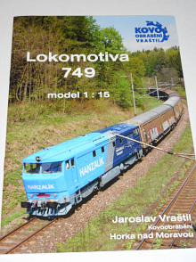 Lokomotiva 749 - model 1:15 - Jaroslav Vraštil