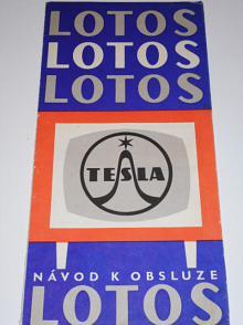 Tesla Lotos - televizní přijímač - návod k obsluze