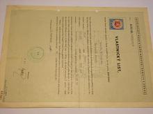 Vlastnický list - Ford Eifel - 1948