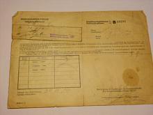 Sběrna obručí - potvrzení příjmu - 1940