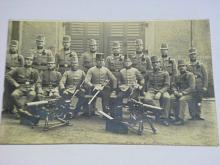 Vojáci - kulomet - pohlednice