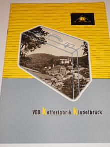 VEB Kofferfabrik Kindelbrück - prospekt - 1956