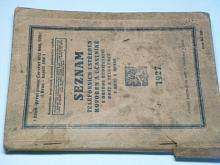 Telefonní seznam - 1927 - Brno, Opava