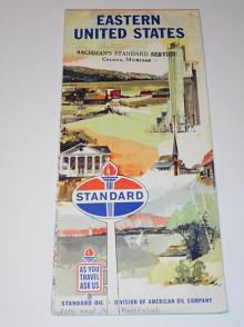 Eastern United States - Standard Oil - mapa