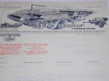 Stratílek Vysoké Mýto - dopis - hasičská výzbroj - 1939