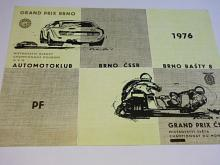 Auto moto klub Brno - Grand Prix ČSSR, PF 1976