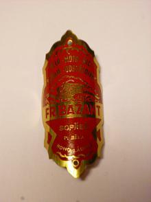 Fr. Bažant, Sopřeč - štítek na jízdní kolo