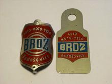Brož, Radošovice - štítek na jízdní kolo