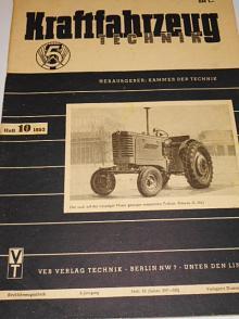 Kraftfahrzeug technik 10/1953 - časopis NDR - DDR