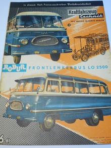 Kraftfahrzeug technik 6/1961 - časopis NDR - DDR