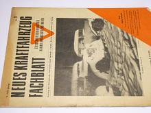 Neues Kraftfahrzeug Fachblatt - 1/1949 - časopis - Ford, Cisitalia...
