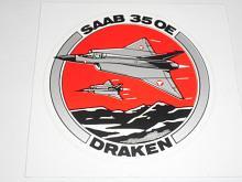 SAAB 35 OE Draken - samolepka
