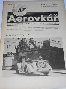 Aerovkář - Časopis Aero Car Clubu - 1935
