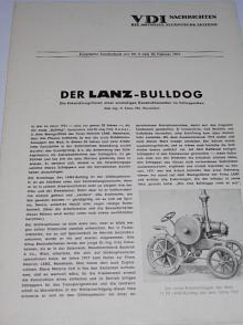 Der Lanz-Bulldog - VDI Nachrichten die Aktuelle Technische Zeitung - Sonderdruck aus Nr. 3 vom 10. Februar 1951