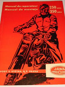 JAWA 250/353/03/04, Jawa 350/354/03 - Manuel du reparateur - Manual de montaje