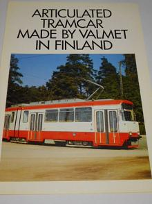 Valmet - Articulated tramcar made by Valmet in Finland - prospekt - 1981