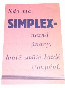 SIMPLEX - měnič rychlosti - pevné prodejní ceny 1936