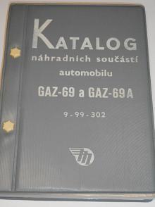 GAZ-69 a GAZ-69 A - katalog náhradních součástí - 1959