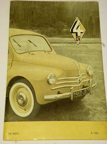 Renault 4 CV typ R 1062 - obsluha a údržba vozu