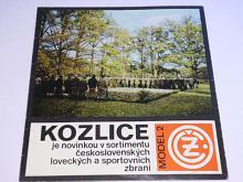 ČZ - Kozlice model 2 - 1974 - prospekt
