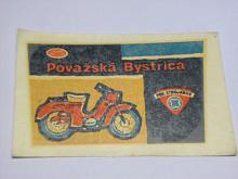 JAWA 50 typ 555 - Považská Bystrica - obtisk