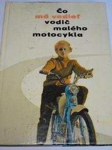 Čo má vedieť vodič malého motocykla - Stadion, Jawetta... Cyril Fedeleš - 1961