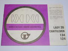 Velamos - návod k obsluze a údržbě jízdního kola Lady 26, Cantilever, 134, 124