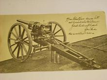 Kanon - dělo - systém Škoda - fotografie  (tisk?)