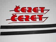 ČZ - samolepka Čezet na nádrž + pruh