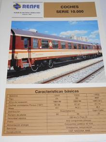 Renfe - coches serie 10.000 - prospekt - 1984